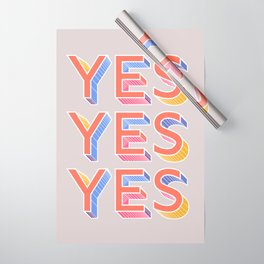YES - typography Wrapping Paper