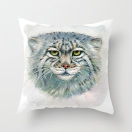 Pallas's cat 862 Throw Pillow