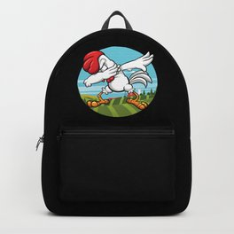 Dabbing Chicken | Dancing Farm Animal Rooster Backpack