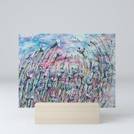 Embracing the sunset wind Mini Art Print