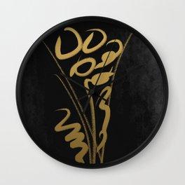 ikebana Wall Clock