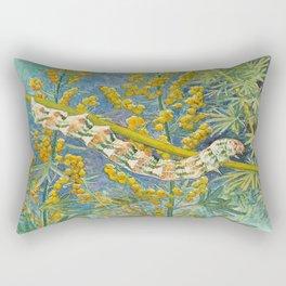 Cucullia Absinthii Caterpillar Rectangular Pillow