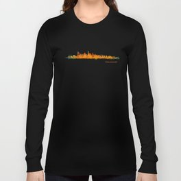 Vancouver Canada City Skyline Hq v01 Long Sleeve T-shirt
