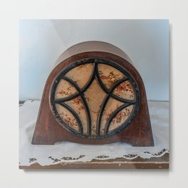 antique intercom used in the kitchens of a historic residence Metal Print