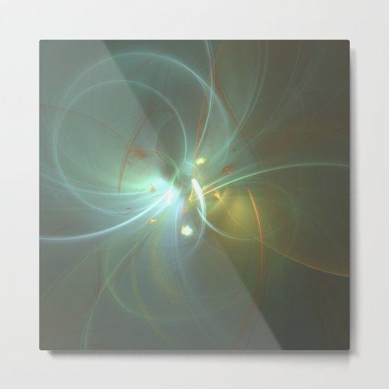 Holiday Glow Fractal Metal Print