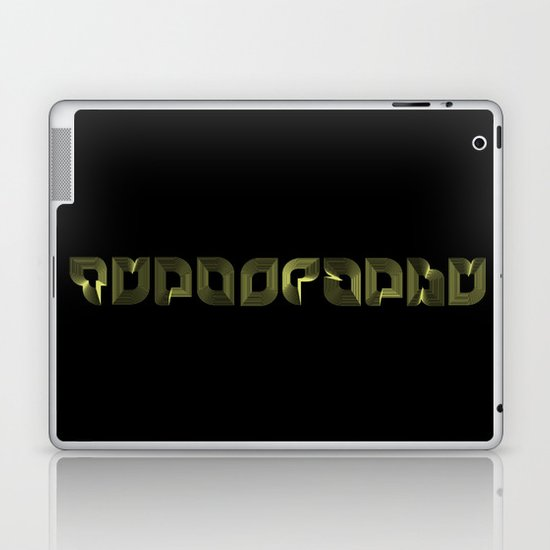 Typography Laptop & iPad Skin