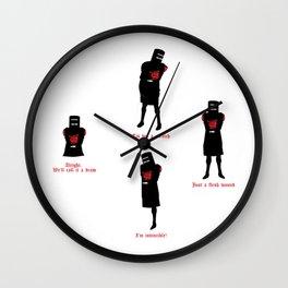 Tis But A Scratch Wall Clock