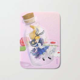 Alice in a bottle (drink me) Bath Mat