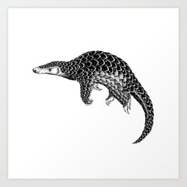 Astral Creature: Pangolin Art Print