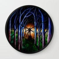 oasis Wall Clocks featuring Oasis by nicebleed