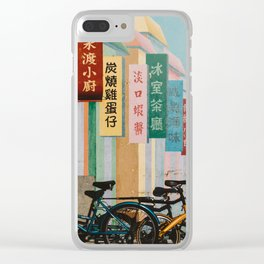 Bicycle Shadows Clear iPhone Case