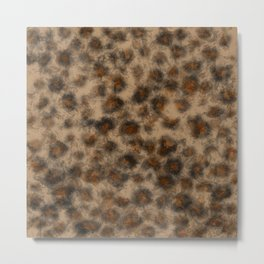 Fuzzy Leopard Metal Print