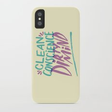 Clean/Dirty iPhone X Slim Case