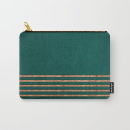 EMERALD COPPER GOLD BRASS STRIPES Carry-All Pouch