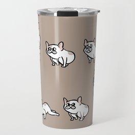 French Bulldog Burpees Travel Mug