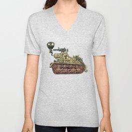 African desert corps tank WWII Unisex V-Neck