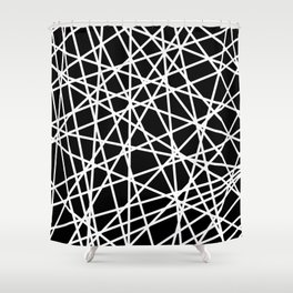 Lazer Dance B&W 1 Shower Curtain