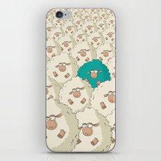 Sheep Pattern | Turquoise iPhone & iPod Skin