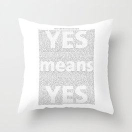 Yes means Yes - SB967 Throw Pillow