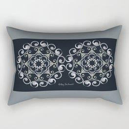 Grace Mandala x 2 - Gray Black Rectangular Pillow