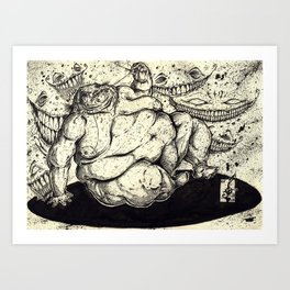 FATTY FAT FAT Art Print