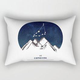 Astrology Capricorn Zodiac Horoscope Constellation Star Sign Watercolor Poster Wall Art Rectangular Pillow