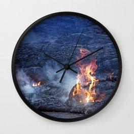 Kilauea Volcano Lava Flow. 5 Wall Clock