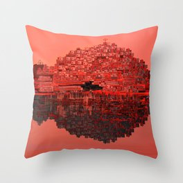 Living The Living Coral Throw Pillow