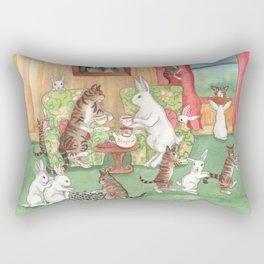 Tea with the Tabbies Rectangular Pillow