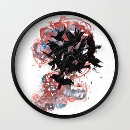 A Murder of Crows Wall Clock