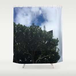 Tree And Sky Shower Curtain