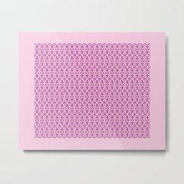 Mod Geometric Floral in Pink Metal Print