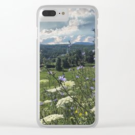 Wildflower Landscapes Clear iPhone Case
