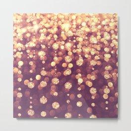 Dazzling Rose Gold Metal Print