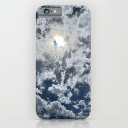 Indigo sky tie dye cloud  iPhone Case