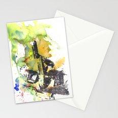 Boba Fett Firing off Green Color Stationery Cards