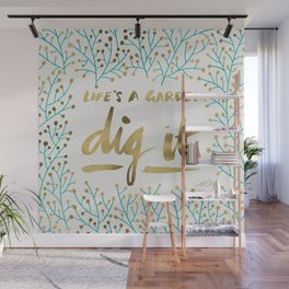 Dig It – Gold & Turquoise Wall Mural