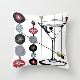 Mid-Century Modern Art Atomic Cocktail 3.0 Throw Pillow