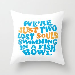 Floyd Pink - wish you were here Throw Pillow