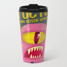 Pink octopus from outer space Metal Travel Mug