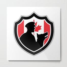 Canadian Police Canine Team Crest Metal Print