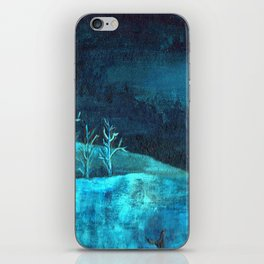 PAISAJE AZUL iPhone Skin