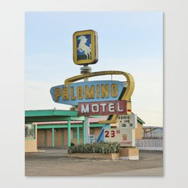 Route 66 - Palomino Motel Canvas Print