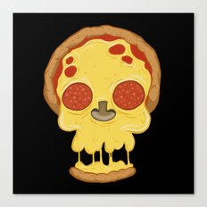 Deadly pizza Canvas Print