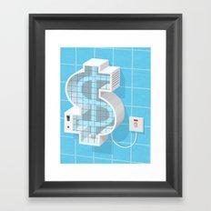 $ zapper Framed Art Print