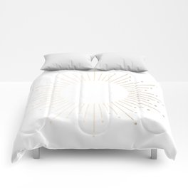 Simply Sunburst in White Gold Sands on White Comforters