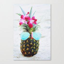 Pineapple Sunglasses Canvas Print