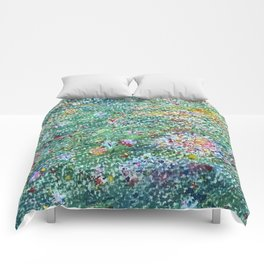 colorful flower filed Comforters