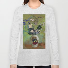 "Odilon Redon ""Vase Au Guerrier Japonais"" Long Sleeve T-shirt"
