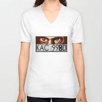 van V-neck T-shirts featuring Van Damn Van by Arts and Herbs